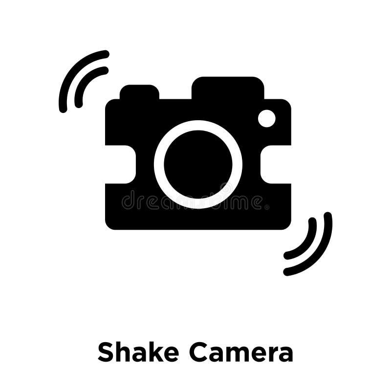 Agite o vetor do ícone da câmera isolado no fundo branco, logotipo concentrado ilustração stock