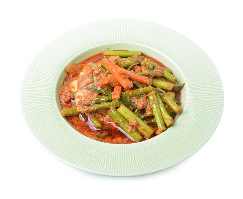 Agite a variedade fritada de vegetais, alimento tailandês do estilo fotos de stock royalty free