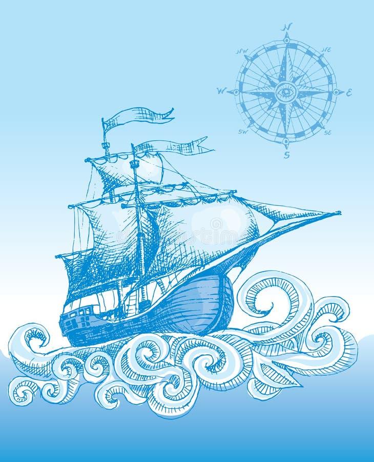 Żaglówka royalty ilustracja