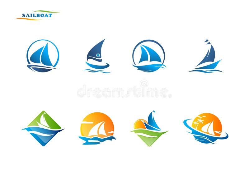 Żaglówka logo ilustracji