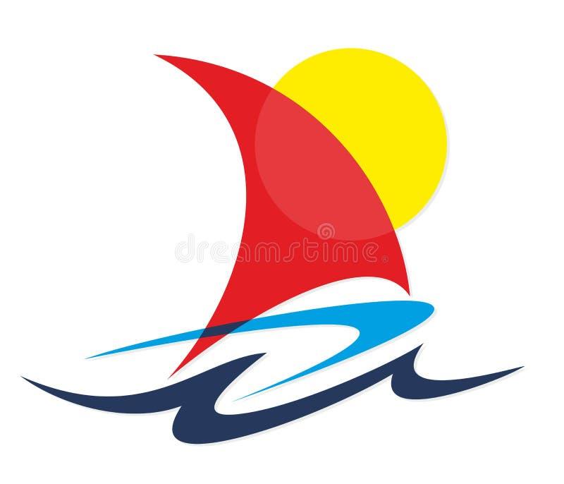 Żaglówka w Morzu ilustracja wektor
