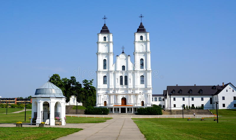 Aglona Church in Latvia. During sunny summer day
