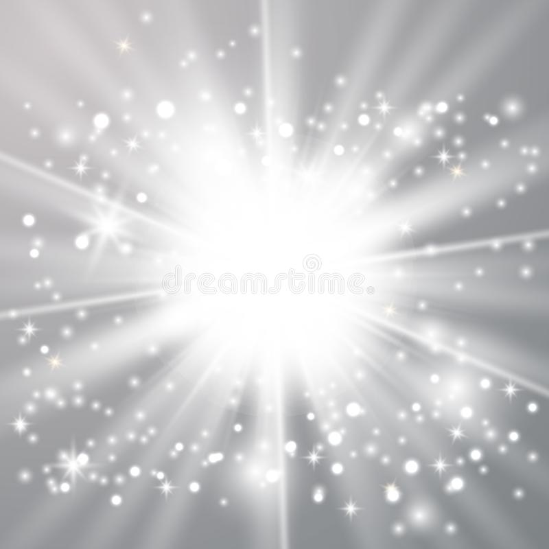 White glow light effect stock illustration