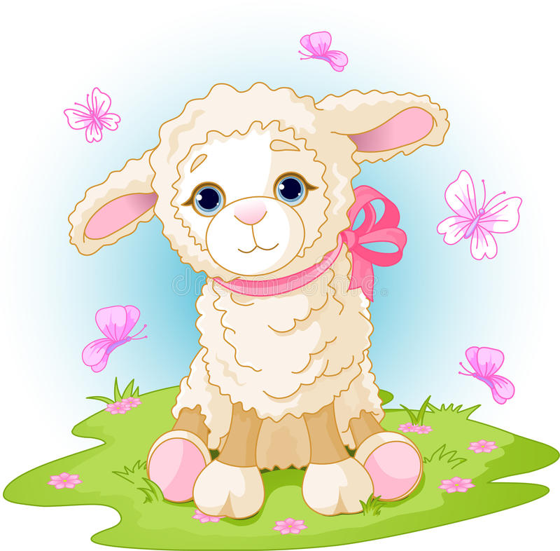 Agneau de Pâques illustration stock