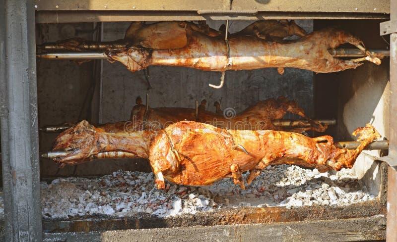 Agneau grillé Agneau rôti image stock