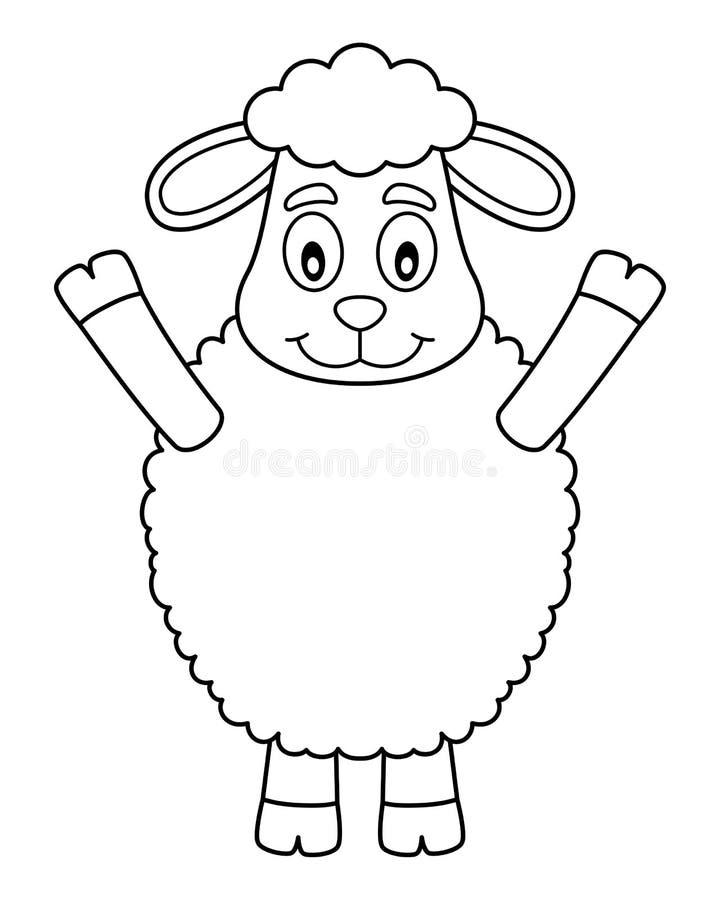 Agneau mignon de Pâques de coloration illustration libre de droits