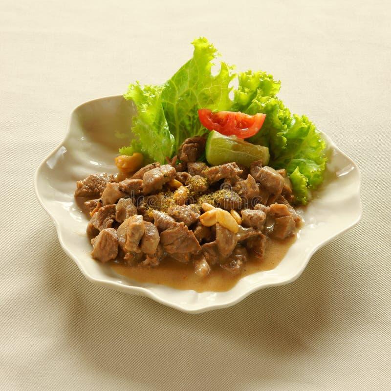 Agnello Marinato Fritto Cucina Libanese Immagine Stock