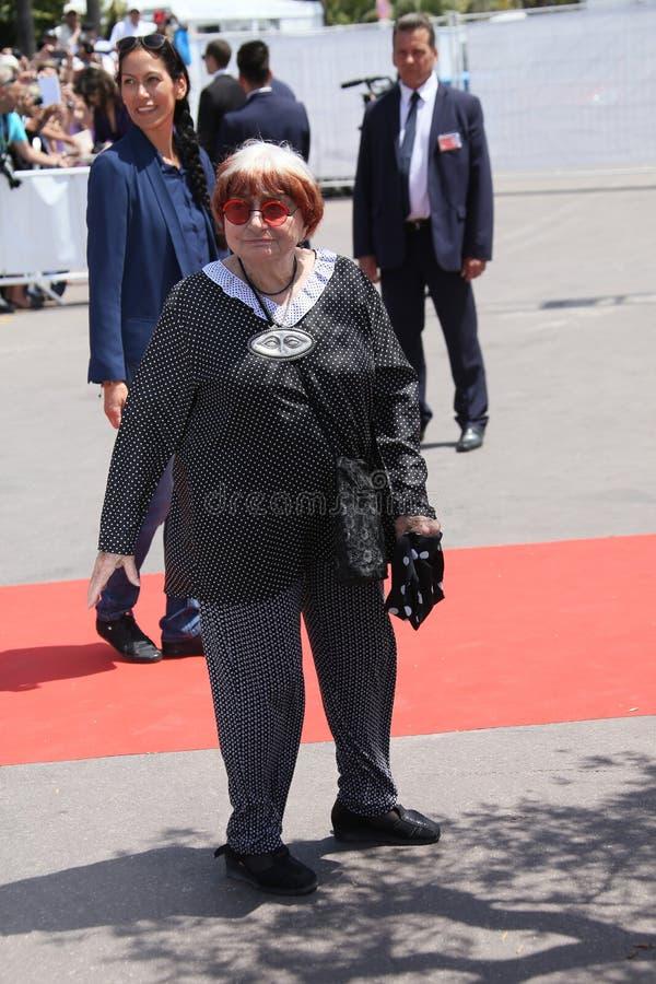Agnes Varda deltar i den 70th årsdagphotocallen royaltyfri bild