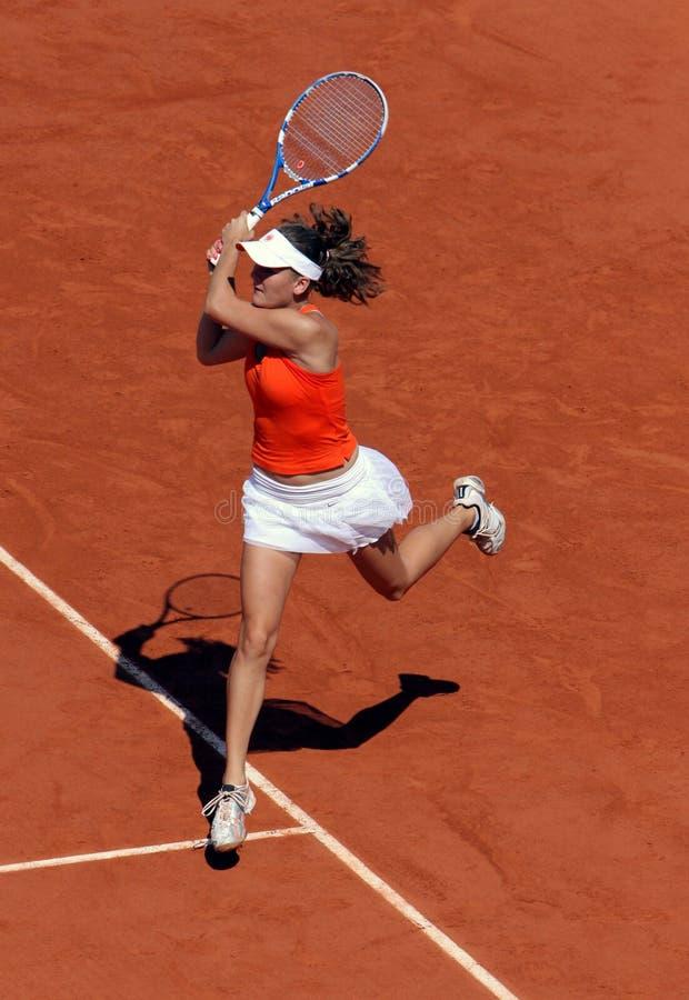 Agnieszka Radwanska (POLITICO) a Roland Garros 2009 fotografia stock