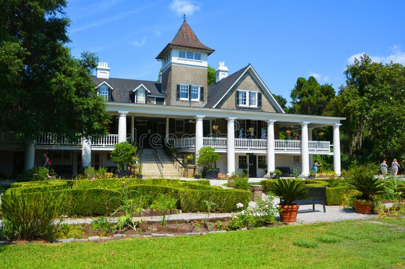 Agnolia Plantation and Gardens is a historic house. CHARLESTON SC USA 06 25 2016: Magnolia Plantation and Gardens is a historic house with gardens It is one of royalty free stock photo