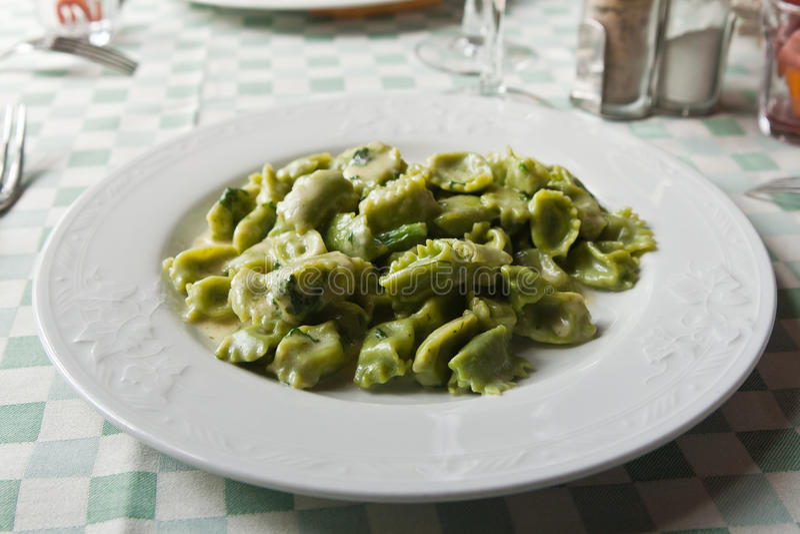 Download Agnolotti al plin stock image. Image of traditional, basil - 15787179