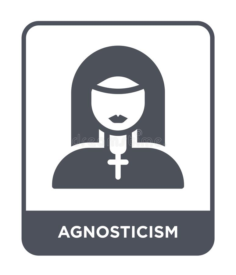 Agnosticism icon in trendy design style. agnosticism icon isolated on white background. agnosticism vector icon simple and modern. Flat symbol for web site stock illustration