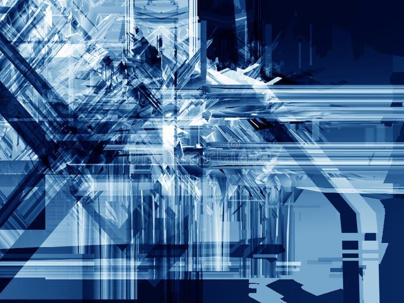Agolpamiento azul del hielo ilustración del vector
