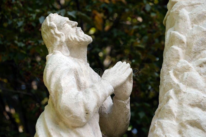 A agonia no jardim de Gethsemane fotos de stock royalty free