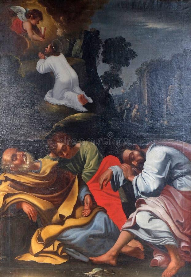 Agonie dans le jardin, J?sus dans le jardin de Gethsemane images stock