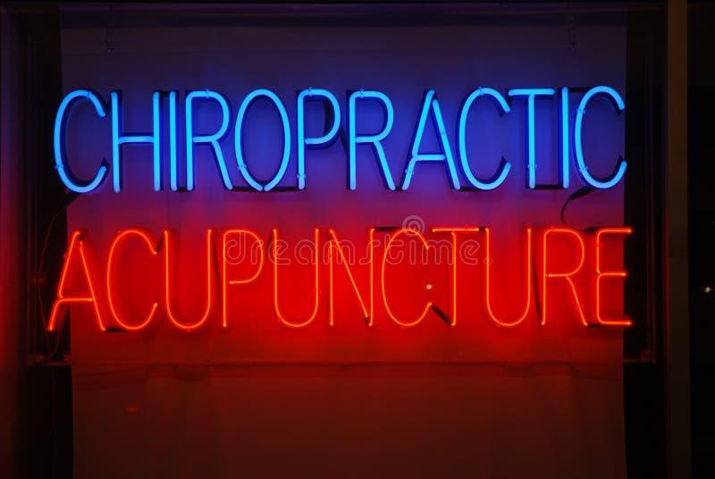 Agopuntura di chiroterapia immagini stock