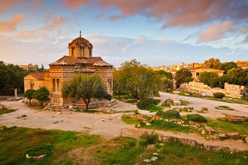 Agora antico, Atene immagine stock libera da diritti