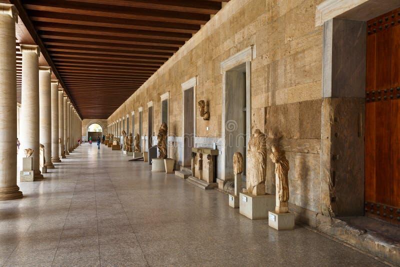 Agora, Athen lizenzfreies stockbild