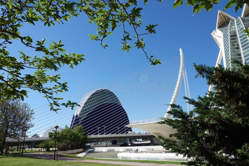 Agora bij Stad van Kunsten en Wetenschappen in Valencia, Spanje royalty-vrije stock foto