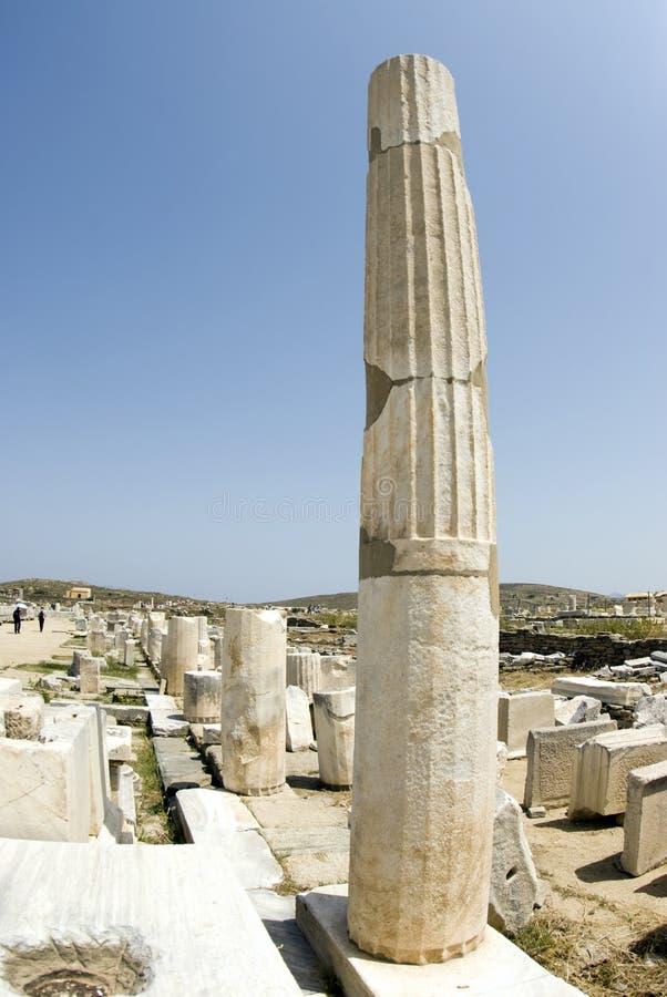 Agora columns delos greece. Columns ancient agora delos island greece stock image