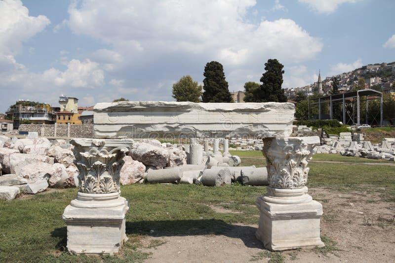 Agora di Smyrna immagine stock