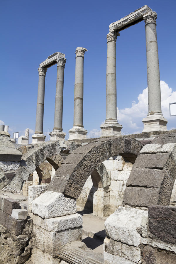 Agora di Smyrna, Smirne, Turchia fotografie stock libere da diritti