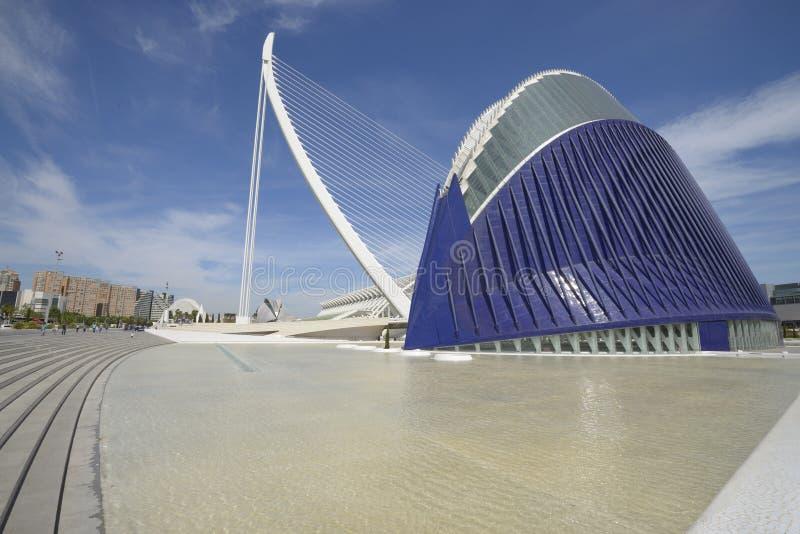 Agora and Golden Waterwheel, Valencia royalty free stock photo