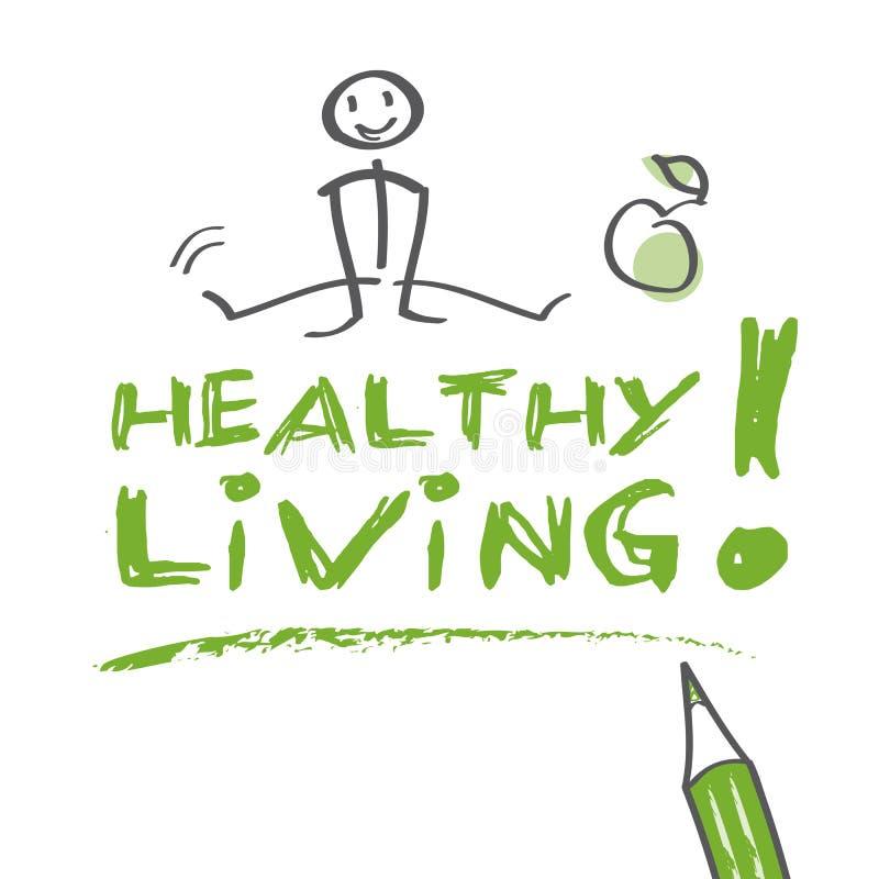 Agora saudável ilustração stock