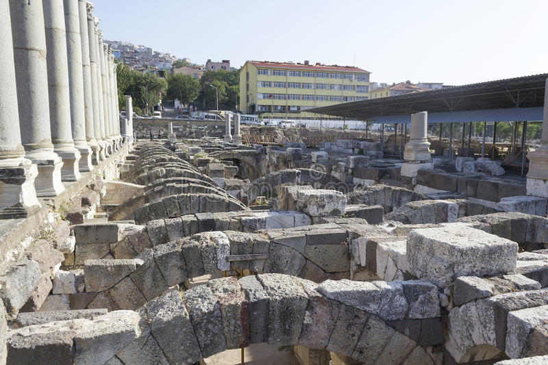 Download Agora of Smyrna stock photo. Image of feature, built - 36466056