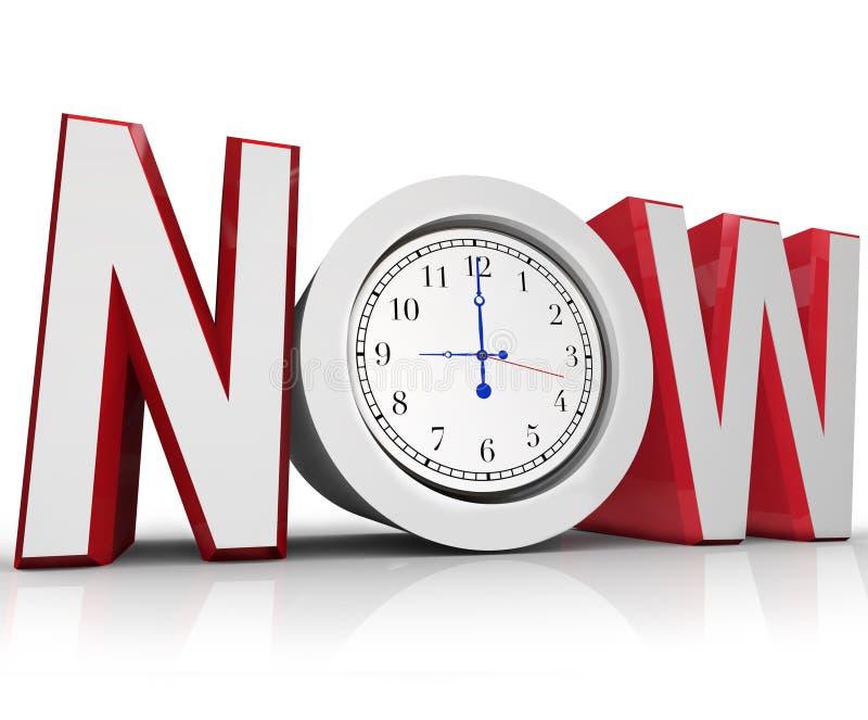 Agora tempo de medição do pulso de disparo para a urgência ou a emergência ilustração royalty free