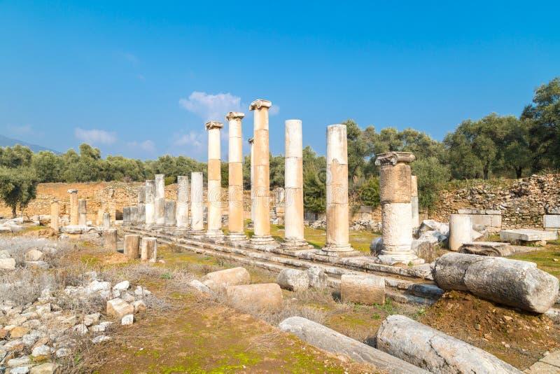 Agora van de Oude Stad van Nysa stock afbeelding