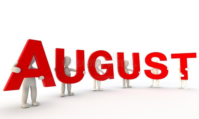 Agosto ilustração stock