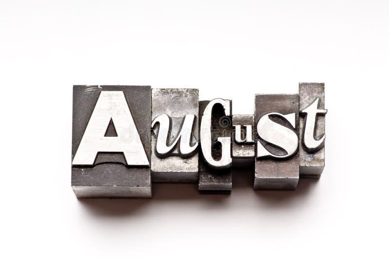 Agosto fotos de stock royalty free