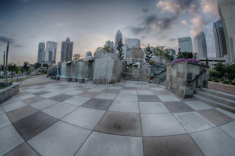 29 agosto 2014, Charlotte, NC - vista dell'orizzonte di Charlotte a Ni fotografia stock