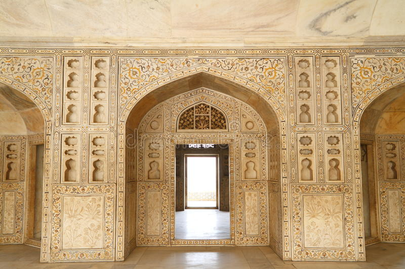 agra fort royaltyfria bilder