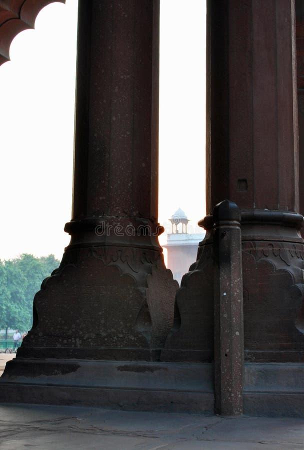 Agra fort. arkivfoto
