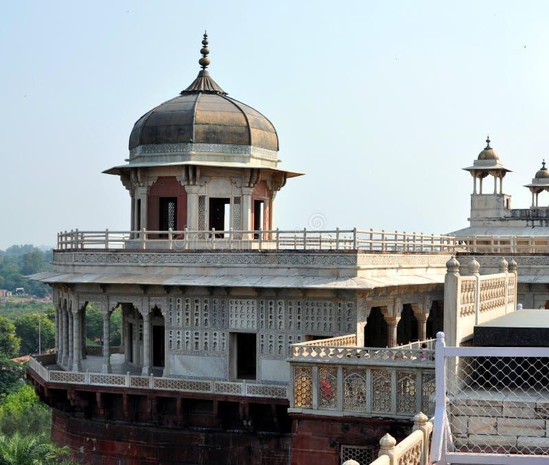 Agra fort. royaltyfria bilder