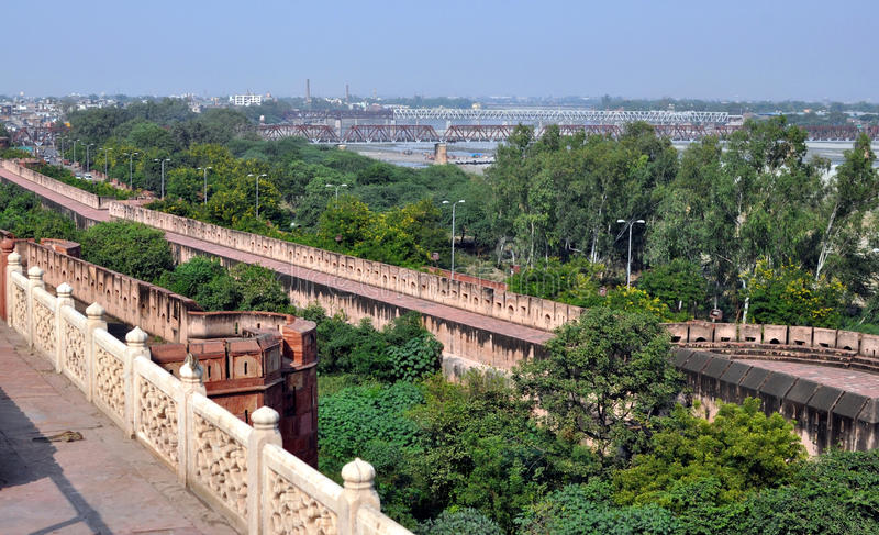 Agra fort. arkivbild