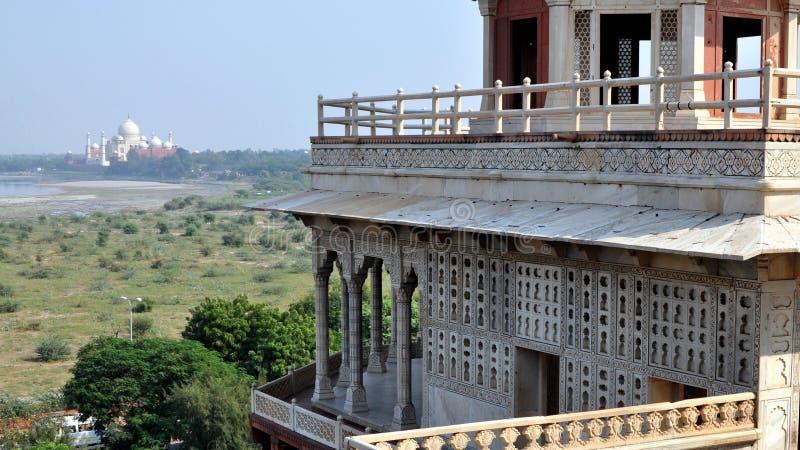 Agra fort. royaltyfri fotografi