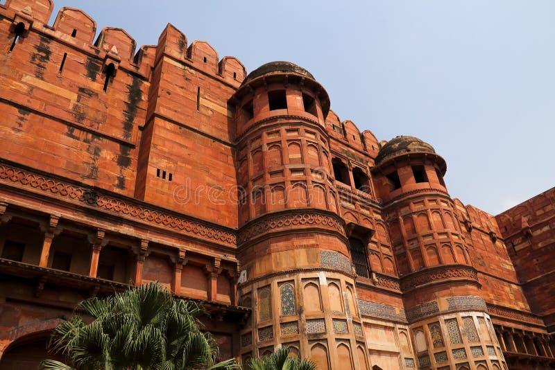Agra Fort royaltyfri fotografi