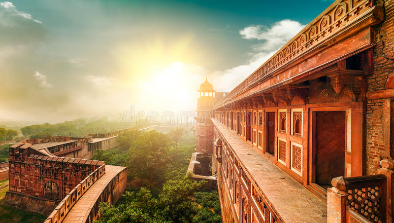 Agra Fort. Agra, Uttar Pradesh, India, Asia. Agra Fort, is a monument, a UNESCO World Heritage site located in Agra, Uttar Pradesh, India. The fort can be more stock photos