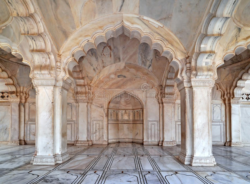 Agra Fort - Courtyard and Pavillion royalty free stock image