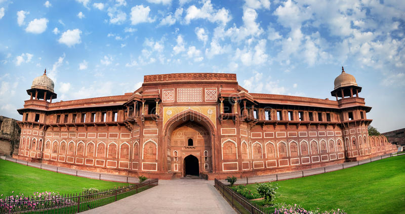 Agra-Fort in Indien stockbild