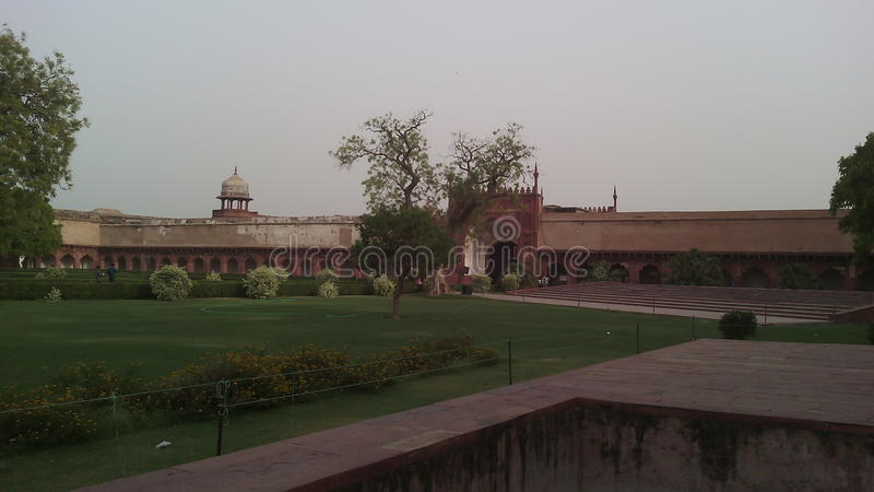 Agra fort inside royalty free stock photo