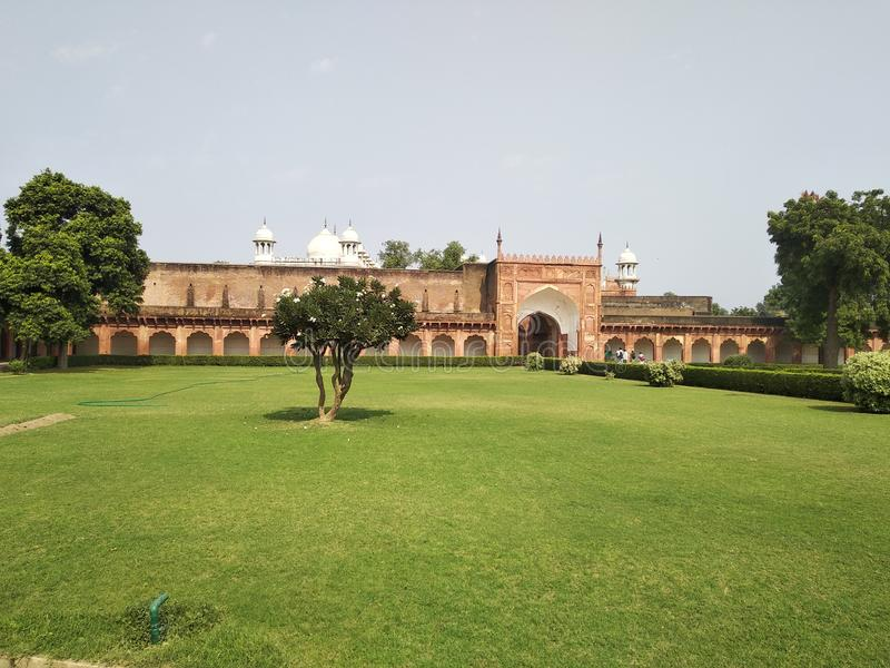 Front view of agra fort royalty free stock image
