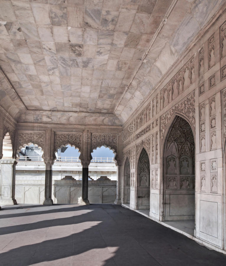 Agra Fort - The Marble Khas Mahal royalty free stock photography