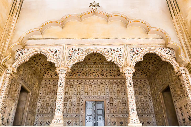 Agra Fort Palace exterior stock photo