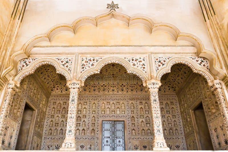 Agra-Fort-Palastäußeres stockfoto