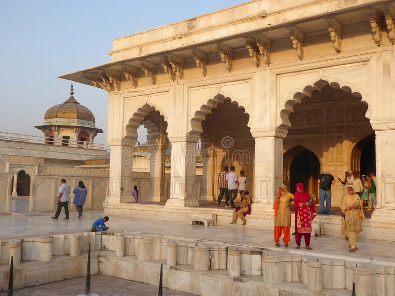 The Agra Fort is a UNESCO World Heritage Site located in Agra, India stock images