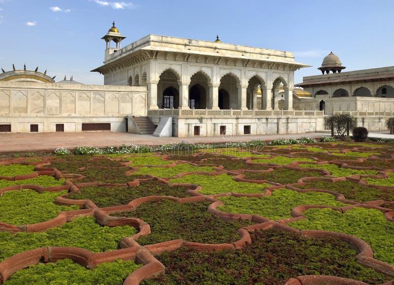 agra fortu ind mahal czerwony sheesh obrazy stock